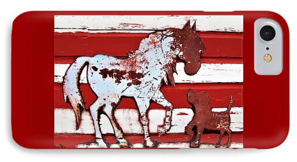 Pony And Pup IPhone Case by Larry Campbell