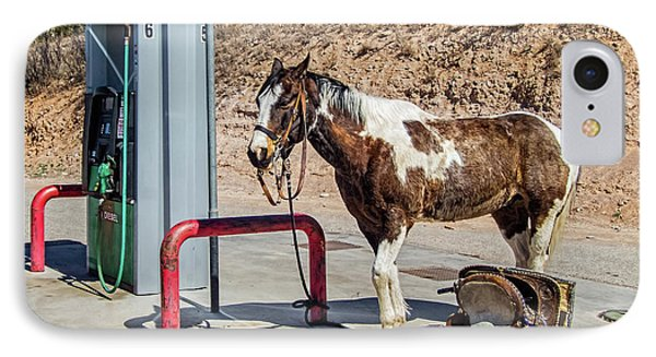 IPhone Case featuring the photograph Pony At The Pump by Britt Runyon