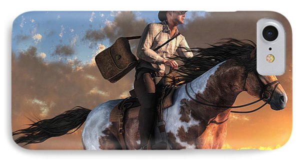 Pony Express IPhone Case by Daniel Eskridge