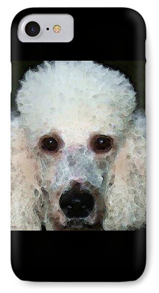 Poodle Art - Noodles Phone Case by Sharon Cummings