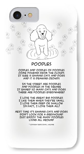 IPhone Case featuring the drawing Poodles by John Haldane