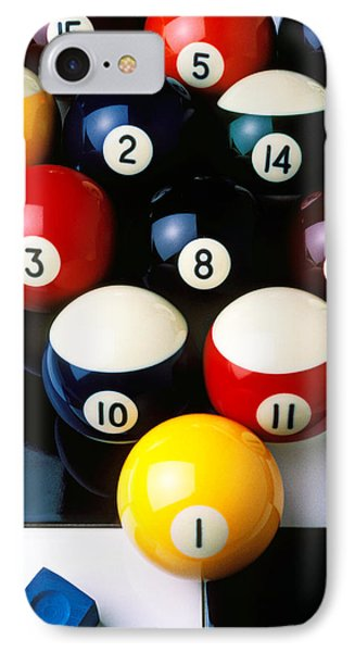 Pool Balls On Tiles Phone Case by Garry Gay