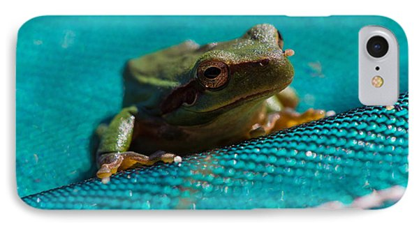 IPhone Case featuring the photograph Pool Frog by Richard Patmore