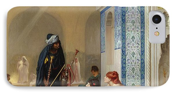 Pool In A Harem IPhone Case by Jean Leon Gerome