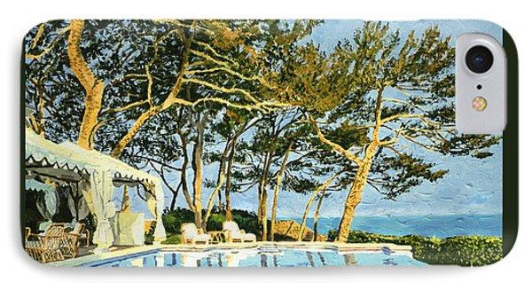 Poolside Sunset - Monaco IPhone Case by David Lloyd Glover