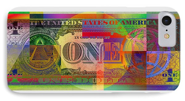 Pop-art Colorized One U. S. Dollar Bill Reverse IPhone Case