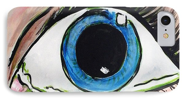 Pop Art Eye IPhone Case by Loretta Nash