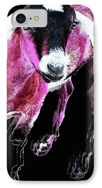 Pop Art Goat - Pink - Sharon Cummings IPhone 7 Case by Sharon Cummings