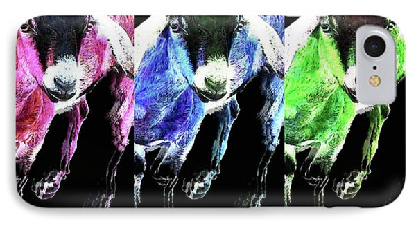 Pop Art Goats Trio - Sharon Cummings IPhone 7 Case by Sharon Cummings