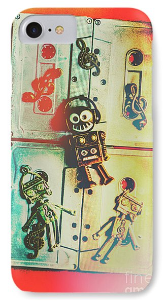 Pop Art Music Robot IPhone Case by Jorgo Photography - Wall Art Gallery