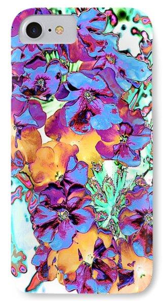 Pop Art Pansies Phone Case by Marianne Dow
