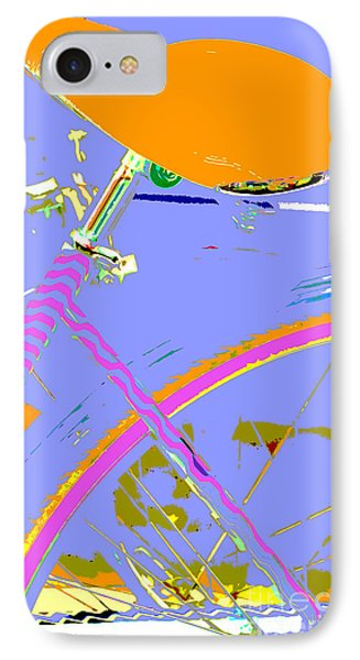 Pop Up Bike In Pastel Colors IPhone Case by WALL ART and HOME DECOR