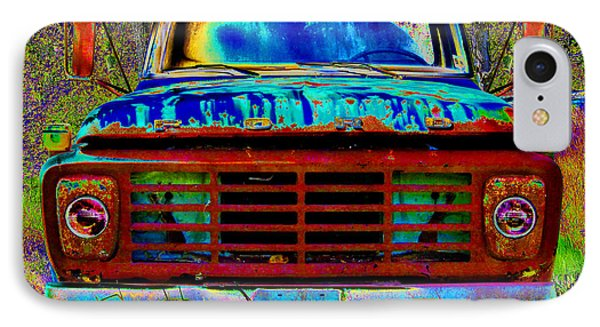 pOp ArT Ford Truck IPhone Case by Mike McGlothlen