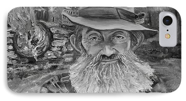 Popcorn Sutton - Black And White - Rocket Fuel IPhone Case