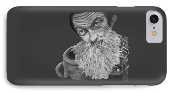 Popcorn Sutton Black And White Transparent - T-shirts IPhone Case