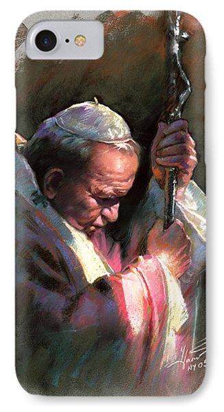 Pope John Paul II IPhone Case by Ylli Haruni
