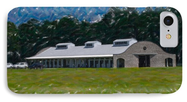 Poplar Grove Equestrian Center In Ravenel Sc IPhone Case by Dale Powell