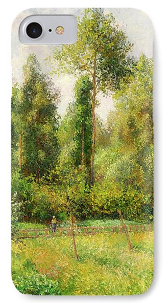 IPhone Case featuring the painting Poplars - Eragny by Camille Pissaro