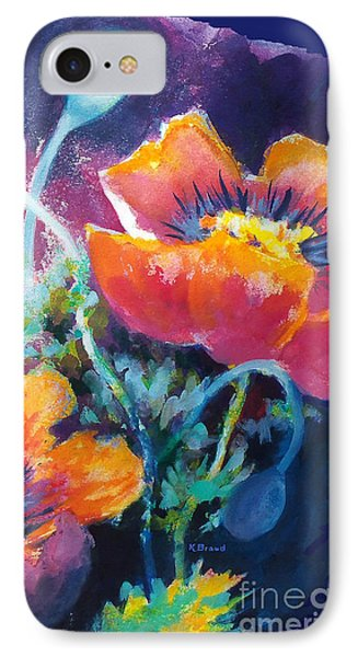 Poppies 2.2 IPhone Case by Kathy Braud