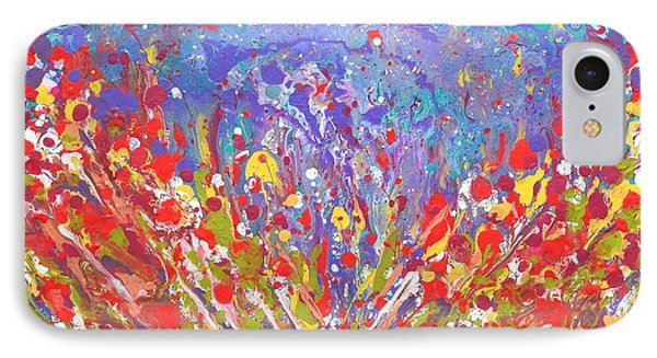 Poppies Abstract Meadow Painting IPhone Case