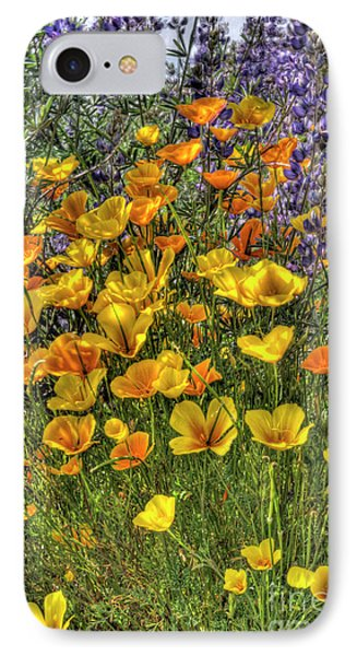 IPhone Case featuring the photograph Poppies And Lupines by Jim and Emily Bush