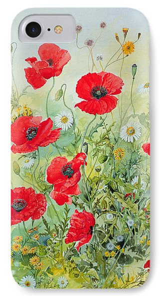 Garden iPhone 7 Case - Poppies And Mayweed by John Gubbins