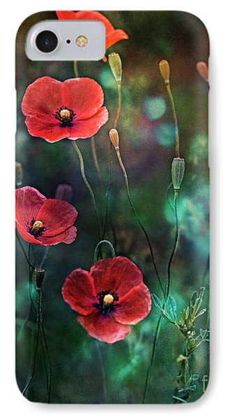Poppies Fairytale IPhone Case by Agnieszka Mlicka