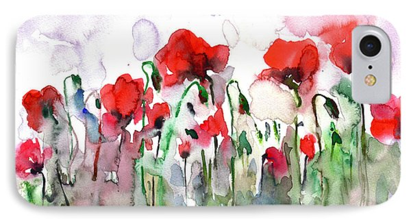 Poppies IPhone Case by Faruk Koksal