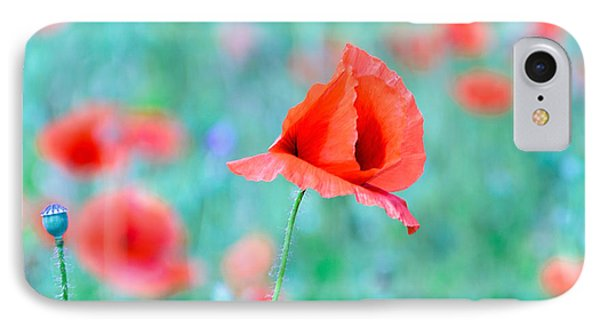 IPhone Case featuring the photograph Poppies In A Field by Marion McCristall