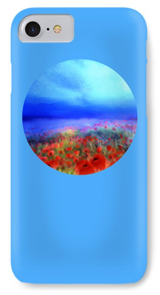 Poppies In The Mist Phone Case by Valerie Anne Kelly
