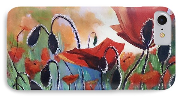 Poppies IPhone Case by Kathy  Karas