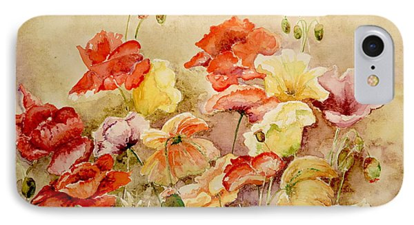 Poppies IPhone Case by Marilyn Zalatan