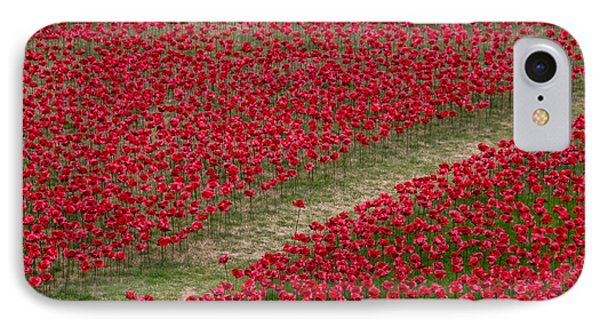Poppies Of Remembrance IPhone 7 Case by Martin Newman