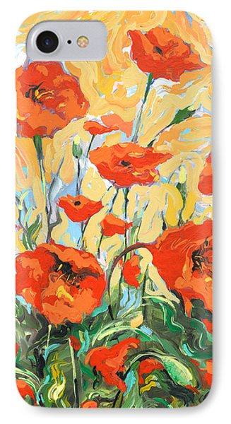 Poppies On A Yellow            IPhone Case