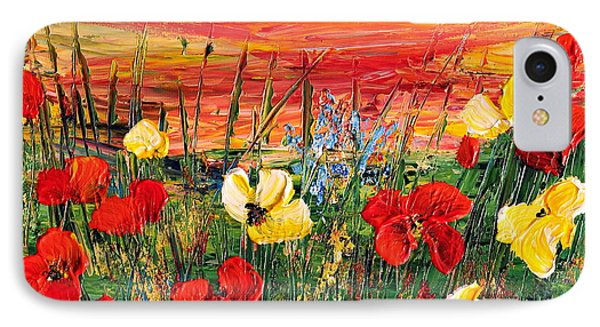 IPhone Case featuring the painting Poppies by Teresa Wegrzyn