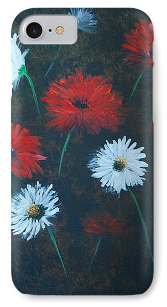 IPhone Case featuring the painting Poppin Daisies by Leslie Allen