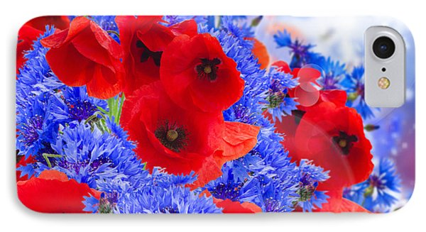 Poppy And Cornflower Flowers IPhone Case by Anastasy Yarmolovich