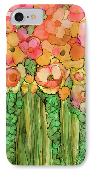 Poppy Bloomies 1 - Orange IPhone Case by Carol Cavalaris