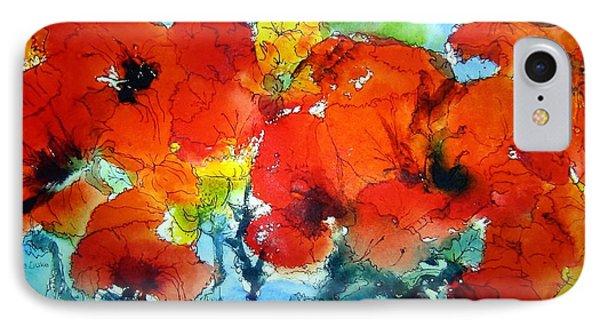 Poppy Bouquet IPhone Case by Anne Duke