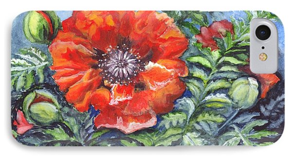 Poppy Brilliance Phone Case by Carol Wisniewski