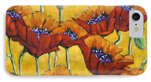 Poppy Craze By Prankearts Phone Case by Richard T Pranke