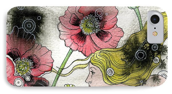Poppy Dream IPhone Case by Sheri Howe
