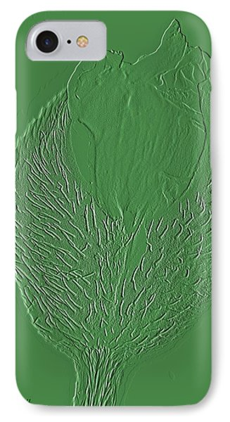 Poppy Embossing  IPhone Case by Chris Berry