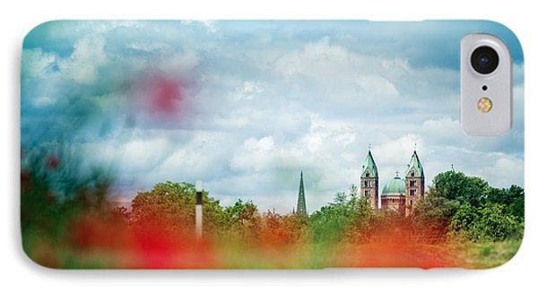 Poppy Field And Speyer Cathedral IPhone Case