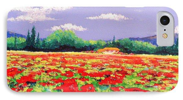 Poppy Field IPhone Case by Anne Marie Brown