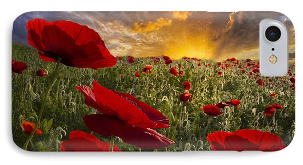Poppy Field IPhone Case by Debra and Dave Vanderlaan