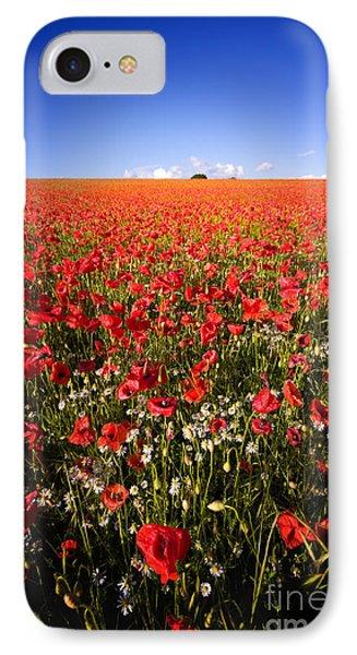 Poppy Field Phone Case by Meirion Matthias
