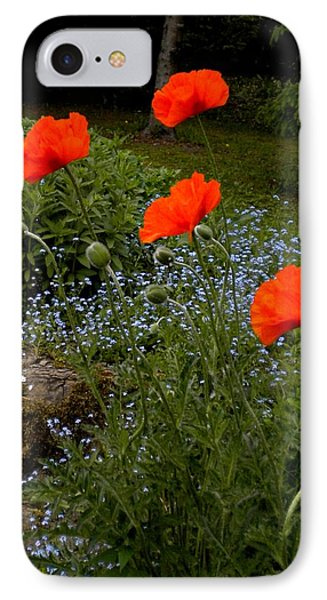 Poppy Foursome IPhone Case by Renate Nadi Wesley