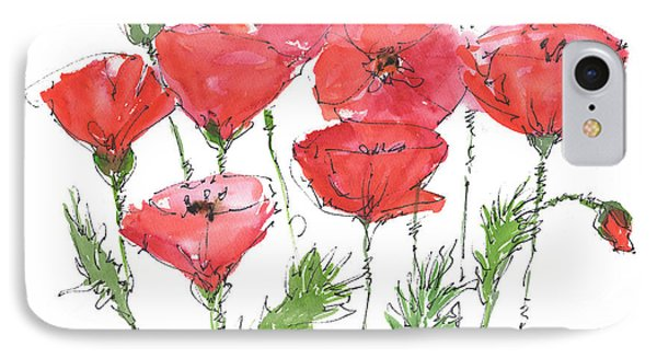 Poppy Garden IPhone Case by Kathleen McElwaine