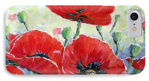 Poppy Love Floral Scene Phone Case by Richard T Pranke